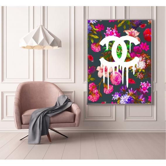 Tableau Contemporain Chanel Fleur