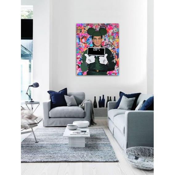 Modern Canvas Elvis Mickey