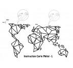 Schéma de pose pour la carte du monde déco en métal