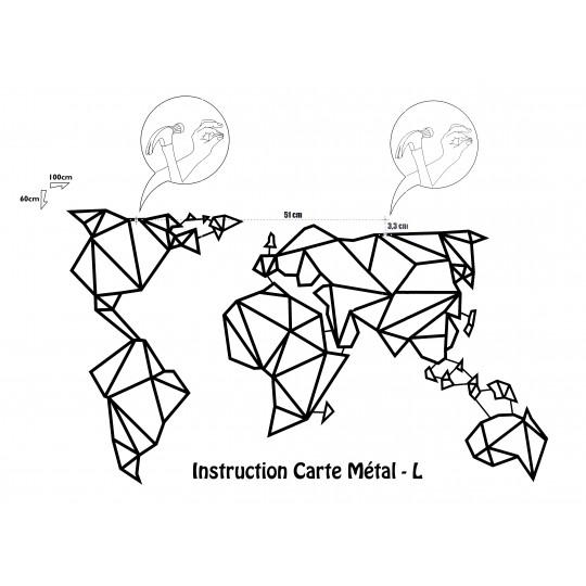 Déco Métal Carte Monde