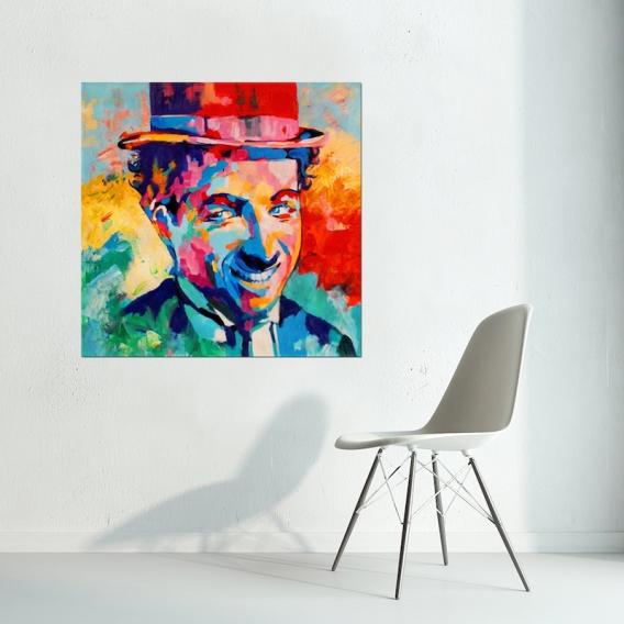 Toile Peinture Pop Chaplin