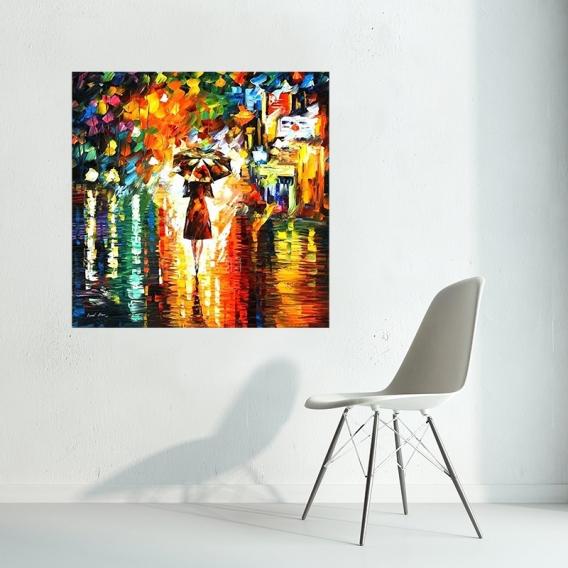 Peinture Moderne Femme Ombrelle