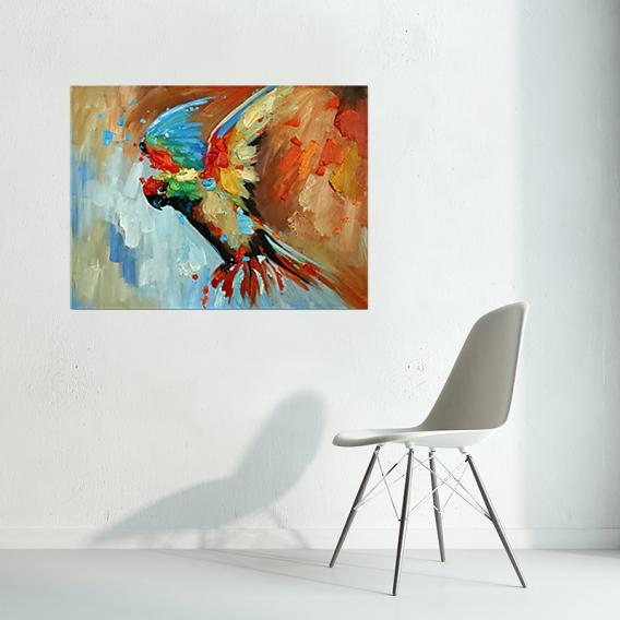 Peinture Contemporaine Perroquet