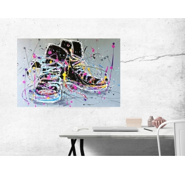 Sneakers Handmade Painting