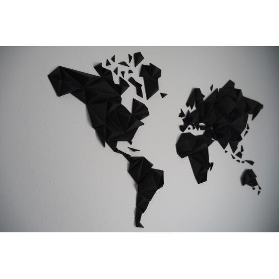 Black World Map Paper Decoration