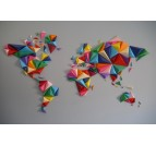 Multicolor Worldmap Paper decoration