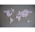 White World Map Paper Decoration