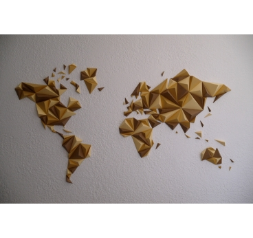 Carte Monde Automne Papier