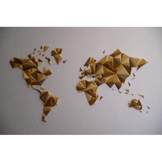 Autumn Paper World Map