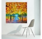 Peinture Moderne Paysage Forêt