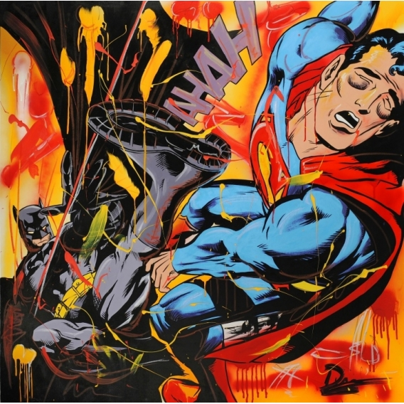 Batman and Superman Canvas