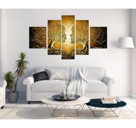 Peinture Contemporaine Gold Kiss