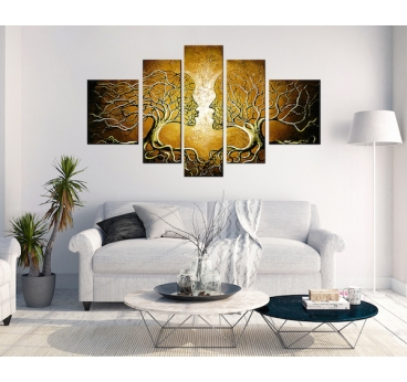 Peinture Contemporaine Gold Kiss