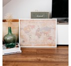 Vintage World Map Decoration
