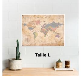 Carte Monde liège Old School