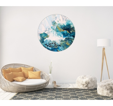 Tableau Rond Design Ocean