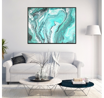Molten Blue Marble Canvas