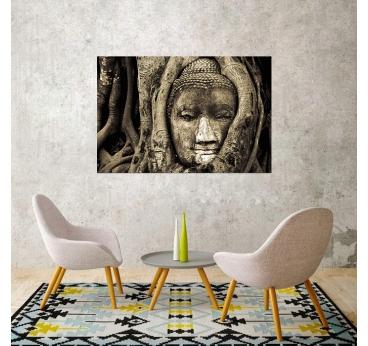 Toile zen tête de bouddha