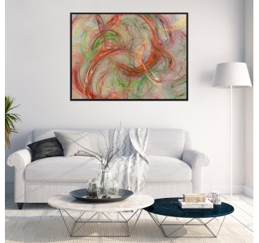 Abstract Spiral Canvas