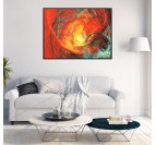 Inferno Framed Canvas