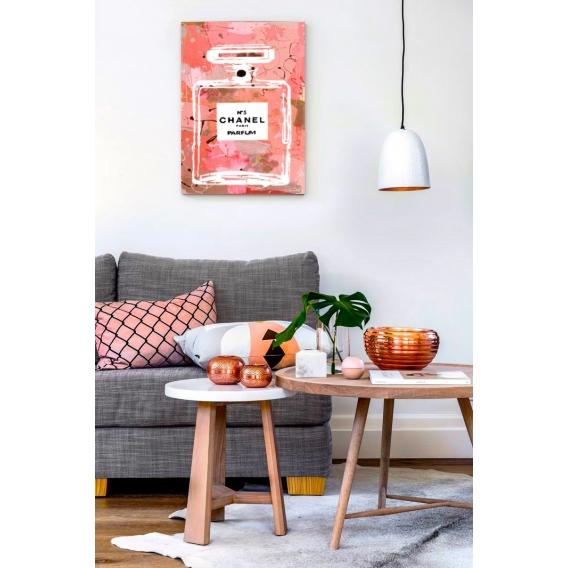 Chanel 5 Pink Design Canvas