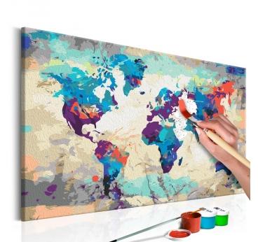 Peinture Numéro Carte Bleue