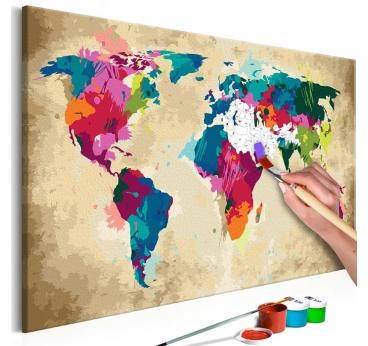 Peinture par Numéro Carte Colorée
