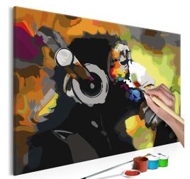 Peinture par Numéro Singe Musique