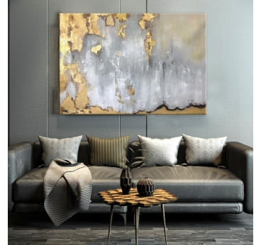 Peinture Abstraite Gold Sky
