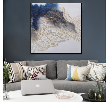 Peinture Design Vague d'Or