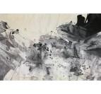 Tableau Peinture Encre Noire
