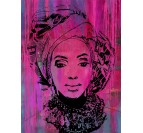 Tableau Peinture Portrait African