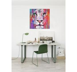 Tableau Peinture Lion Moderne