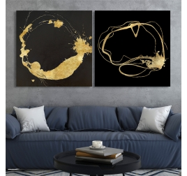 Golden Circle Oil Painting