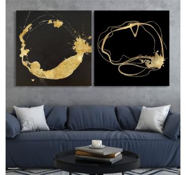 Tableau Peinture Cercle d'Or