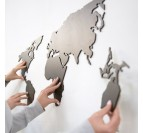 Black Worldmap Wood Decoration