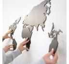 Decoration Bois Map Monde Noire