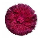 Juju hat africain rouge bordeaux avec ses plumes de raffia pour votre décoration murale