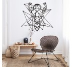 Deco Metal Deer Diamond in a boho interior
