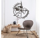Metal world map trimens in a modern living room for art interior