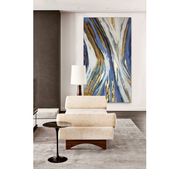 Abstract Gold Lines Painting