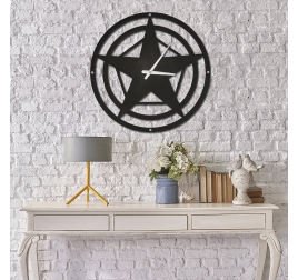 Horloge Métal Star