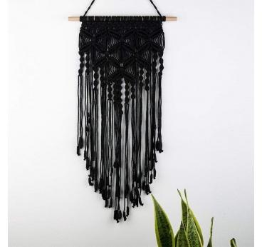 Macrame Murale Black