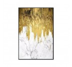 Contemporary painting golden waterfall