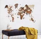 3D World Wood Decoration
