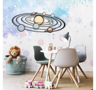 Décoration Métal design de la galaxie dans une chambre d'enfant design