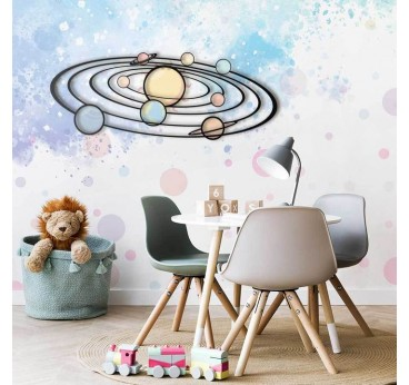 Milky Way metal wall decoration in a design children room