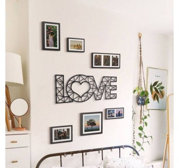Wall metal decoration love