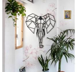 Elephant Metal Wall Decoration