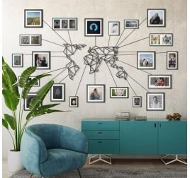 Metal Wall Decoration World Map